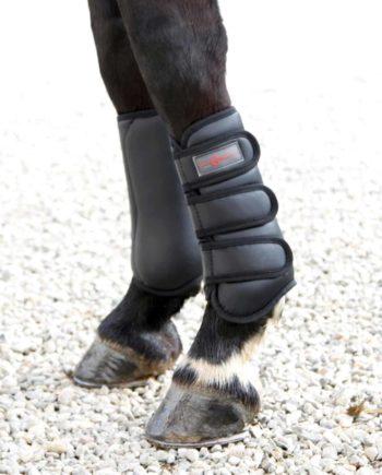 czarne ochraniacze treningowe TORONTO Covalliero dla konia