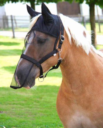 Maska dla konia chroniąca przed owadami Covalliero z kantarem