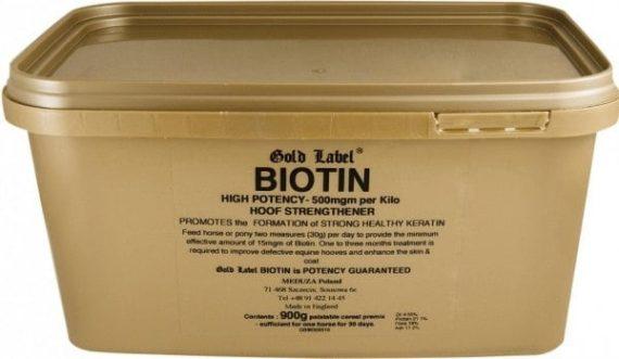 Biotin Gold Label biotyna suplementy, pasze-i-witaminy