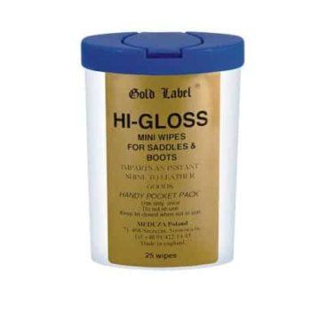 Hi Gloss Mini Wipes Gold Label chusteczki nabłyszczające skórę pielegnacja-wyrobow-skorzanych