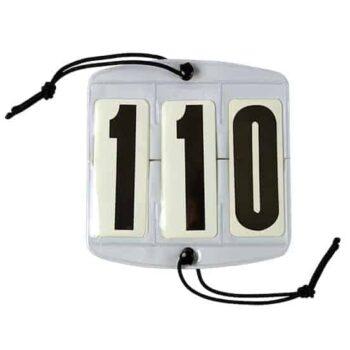 Numerek startowy 3-cyfrowy FP odziez-konkursowa, dla-jezdzca, akcesoria-oglowia-kielzna-i-wytoki