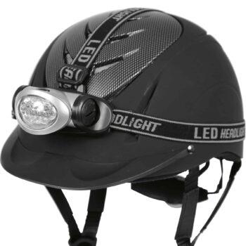 Latarka LED na kask Kerbl odblaski-dla-konia, odblaski, dodatki, bezpieczenstwo-jezdzca, akcesoria
