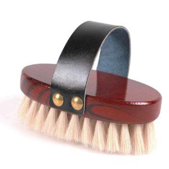 Szczotka do głowy z naturalnego koziego włosa QHP szczotki
