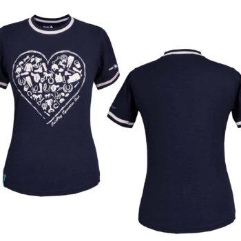 Damska koszulka, T-shirt ABBY HEART Fair Play odziez, dla-jezdzca, bluzy-i-koszulki