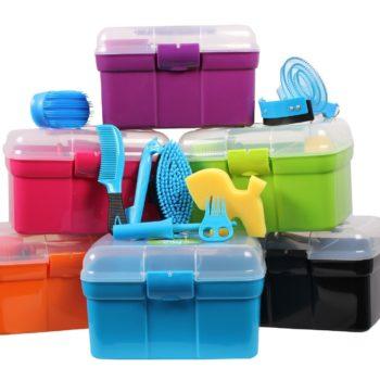 Skrzynka ze szczotkami Pony Power QHP skrzynki-i-torby, nowosci, akcesoria-do-czyszczenia