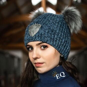 Czapka zimowa Bridget EQ.QUEEN damska nowosci, eq-queen-jesien-zima-2019, dla-jezdzca, czapki-i-szaliki