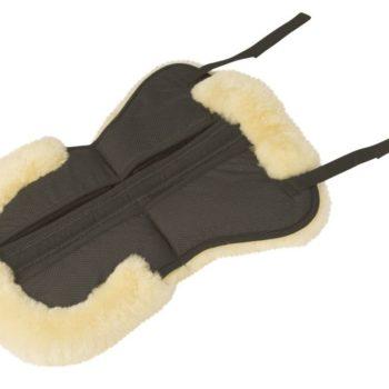 Podkładka pod siodło jagnięca skóra Full czarna- KERBL siodla-i-osprzet, podkladki-pod-siodlo, nowosci, dla-konia