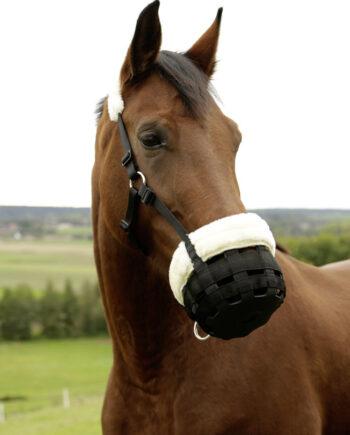 kaganiec dla konia z futerkiem